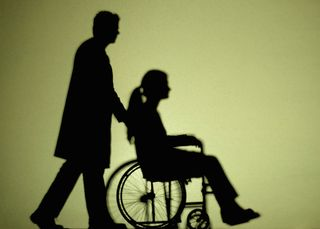 Wheelchair silhouette